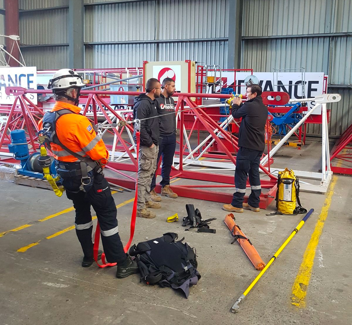 crane staff training at advance cranes - tower crane hire