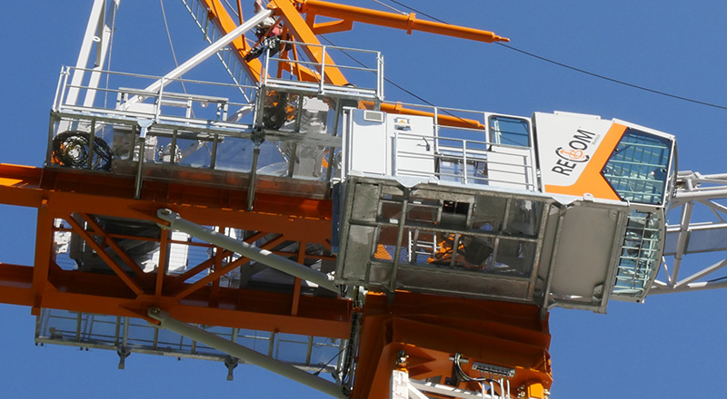 Recom luffing crane for hire and sale