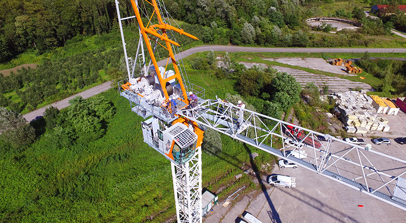 Luffing jib tower crane for sale and hire - recom cranes