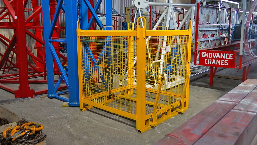 brick cage to lift with tower cranes and forklifts