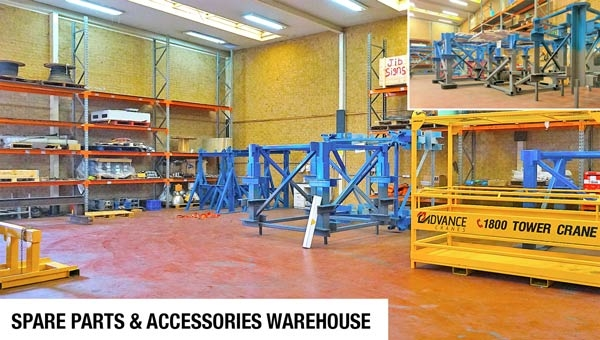 spare parts and accessories for tower crane - tower crane bases - man cage
